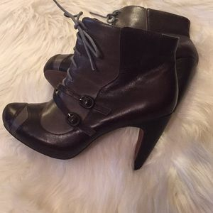 Anthropologie Pink Studio Retro Style Ankle Boot